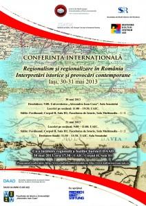 Afis conf Regionalism-regionalizare_Iasi-30-31 mai 2013
