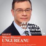 """Image for Vineri, 11 decembrie 2015, Aula Magna """"Mihai Eminescu""""  – Prelegerea """"Ce pret are astazi libertatea"""" sustinuta de Mihai-Razvan UNGUREANU"""