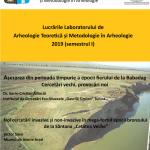 Image for 24 octombrie 2019 – Lucrările Laboratorului de Arheologie Teoretică şi Metodologie în Arheologie
