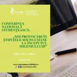 """Image for Conferința Națională Studențească """"Noi provocări în științele socio-umane la începutul mileniului III"""""""
